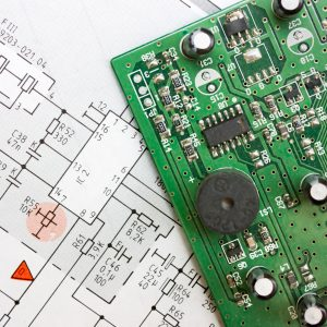 schematic diagram - design of electronic circuit  and electronic board